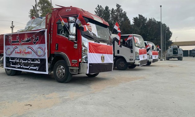 Egyptian Red Crescent Sends Humanitarian, Medical Aid to Gaza Strip