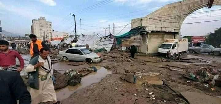 Yemeni Capital Sanaa Lashed by Days of Heavy Rain