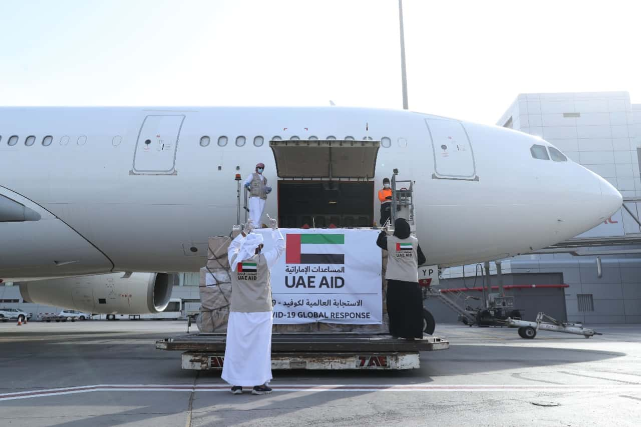 UAE-Israel Direct Flight Delivers Aid to Help Palestine Fight COVID-19
