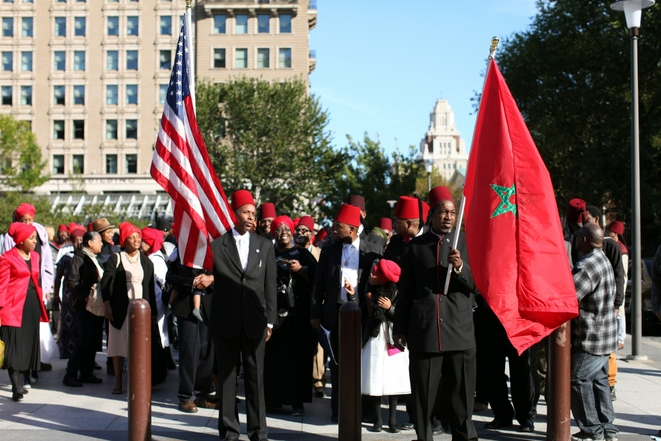 Moorish Temple Society of America march in USA