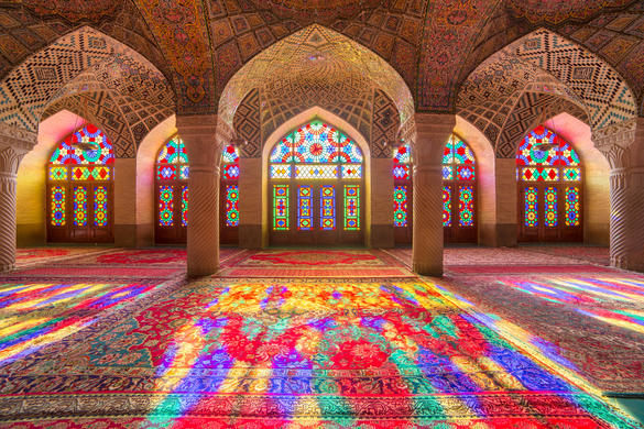Nasir Al Mulk Mosque In Shiraz, Iran
